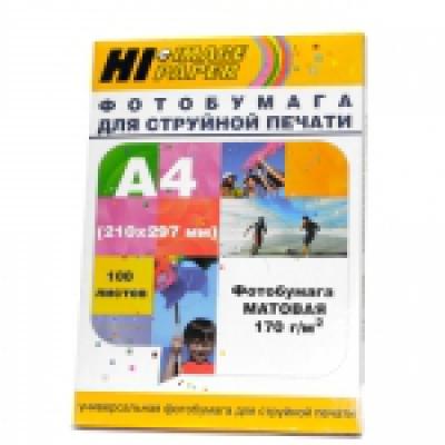 Фотобумага глянцевая односторонняя (Hi-image paper) A4, 170 г/м, 100 л.