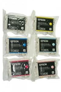 Картридж Epson Stylus Photo P50/PX660/700W/800FW/R265/RX560 (O) C13T08054011, LC