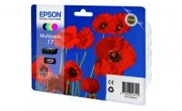 Картридж (комплект 4шт) Epson Expression Home XP-33/103/203/207 (O) C13T17064A10, BK,C,M,Y