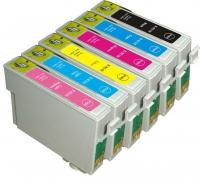 Картридж Epson Stylus R270/295/390/RX590/T50 (Hi-black) new, T08244A/C13T11244A10, Y